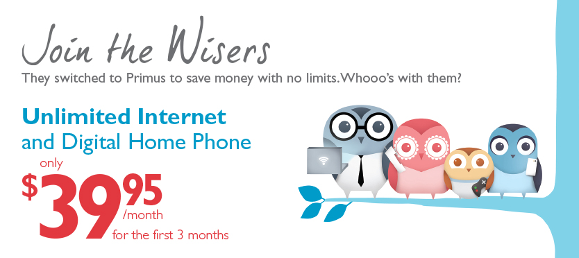 Wisers Unlimited internet and home phone